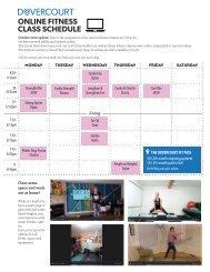 Dovercourt Online classes Oct. 2020