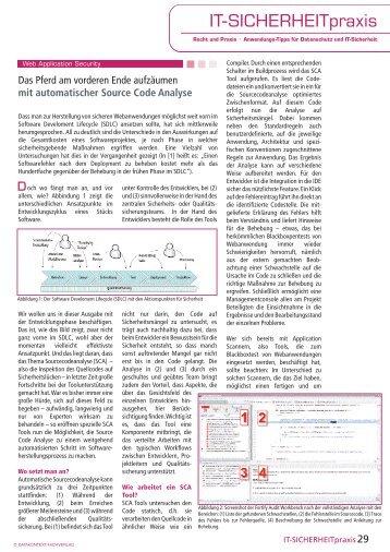 mit automatischer Source Code Analyse - SecureNet GmbH