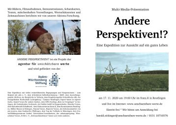 Expedition ANDERE PERSPEKTIVEN (Multi-Media-Präsentation)