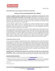 Dealer WP-Consumer Reports Update - Goodman Manufacturing