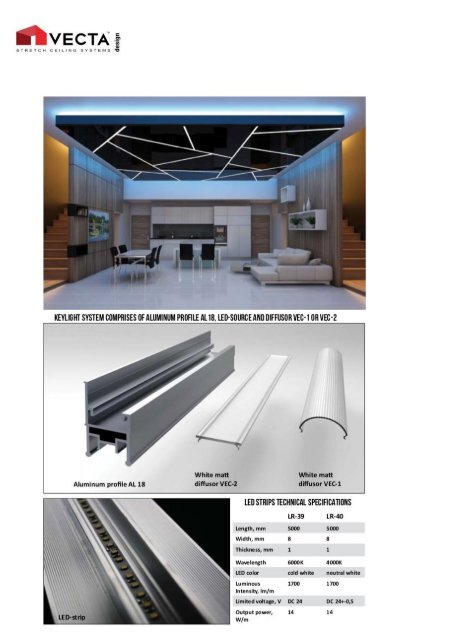 VECTA KEY LIGHT: Ultra-Modern Recessed Linear Lighting & Ceiling System