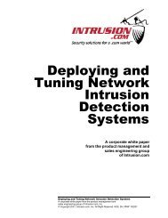 Deploying and Tuning Network Intrusion Detection Systems