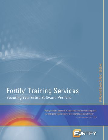 Fortify® Training Services