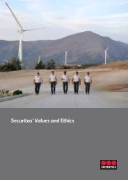 Securitas' Values and Ethics