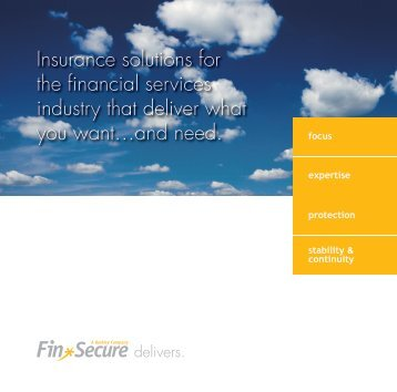 FinSecure Overview Brochure (1.99 MB)