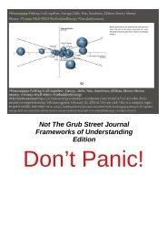 Not The Grub Street Journal , PANIC! edition