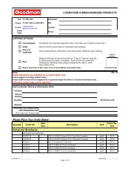 Literature & merchandising products order form