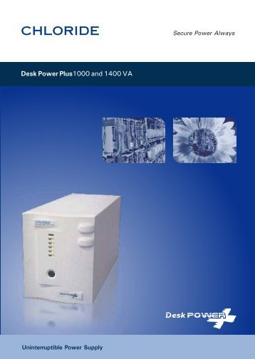 Desk Power Plus 1000 and 1400 VA - Chloride