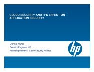 CLOUD SECURITY AND IT'S EFFECT ON APPLICATION SECURITY