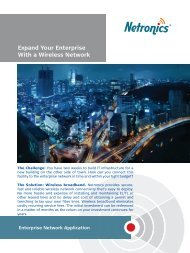 Expand Your Enterprise With a Wireless Network - Netronics Networks