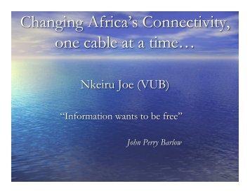 Nkeiru Joes Africa Gathering Presentation – 2009 - White African