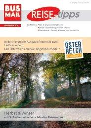BusMail Reisetipps Ausgabe November 2020