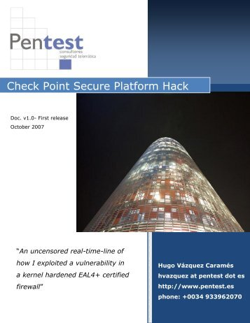 Check Point Secure Point Secure Platform Hack form Hack - Pentest