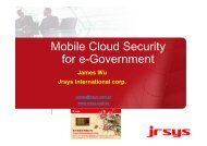 jrsys Mobile Cloud Secure Solutions for Government