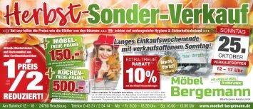 Herbst-Sonder-Verkauf