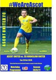 Ascot United v CB Hounslow 201020