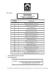 MAY 9, 2012 FINAL RANKING SECURITY GUARD SERVICES RFP ...