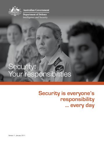 Security: Your responsibilities - Department of Defence