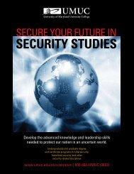 secure your future in security studies - UMUC