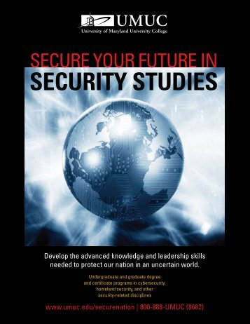 secure your future in security studies - UMUC