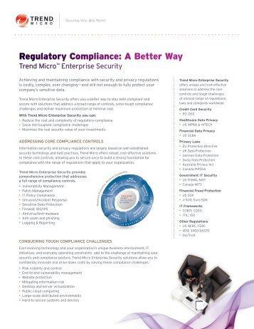 Regulatory Compliance: A Better Way - Trend Micro