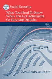 What You Need To Know When You Get ... - Social Security