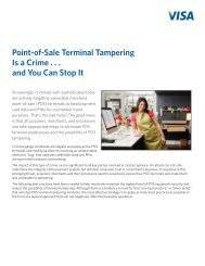 Point-of-Sale Terminal Tampering Is a Crime . . . and You Can ... - Visa