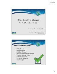 Cyber Security in Michigan - intergovernmental audit forums