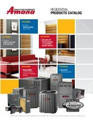 resIdentIal PRODUCTS CATALOG - Goodman Manufacturing
