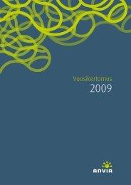 Vuosikertomus 2009 (pdf) - Anvia