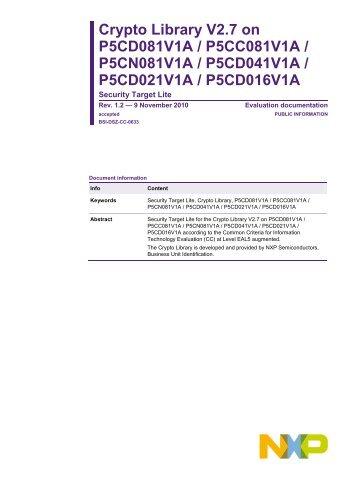 Crypto Library on SmartMX - Bundesamt für Sicherheit in der ...