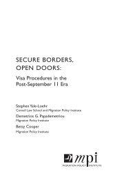 SECURE BORDERS, OPEN DOORS: - Migration Policy Institute