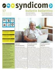 syndicom Bulletin / bulletin / Bollettino 17