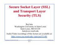 (SSL) and Transport Layer Security - Washington University in St ...