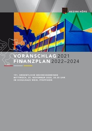 Voranschlag 2021 Bezirk Höfe