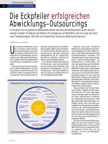 Die Eckpfeiler erfolgreichen Abwicklungs-Outsourcings - Acrys