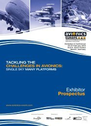 to download Exhibitor Prospectus (pdf)... - Avionics Europe