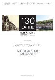 130 Jahre Elser Gruppe