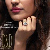 Customizable 3-Stone/Side-Stone Diamond Engagement Rings