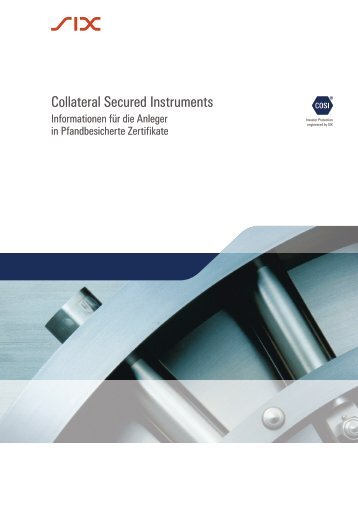Collateral Secured Instruments - SIX Swiss Exchange