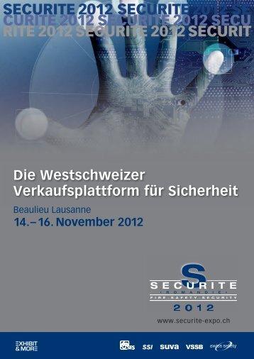 SECURITE 2012 SECURITE 2012 SECURITE 2012 SECURITE ...
