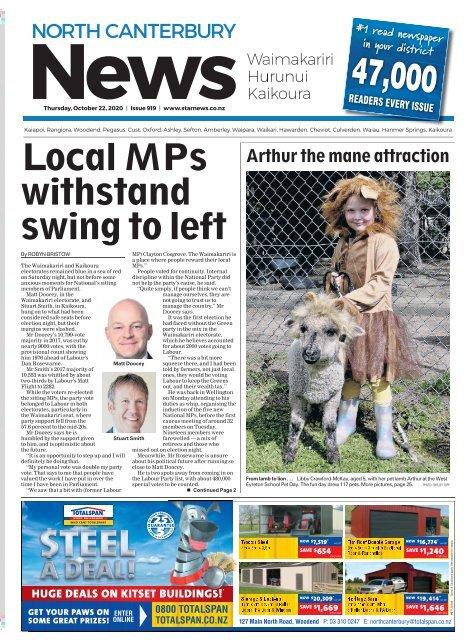 North Canterbury News: October 22, 2020