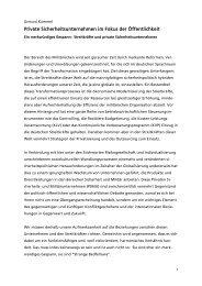 Ausgabe: 01/2010 - Private Sicherheitsunternehmen im Fokus der