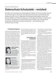 Datenschutz-Schutzziele – revisited - Maroki.de