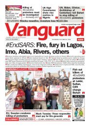 22102020 - #EndSARS: Fire, fury in Lagos, Imo, Abia, Rivers, others