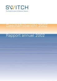 Geschäftsbericht 2002 - Switch