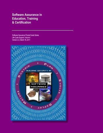 SwA in Education, Training & Certification - US-Cert