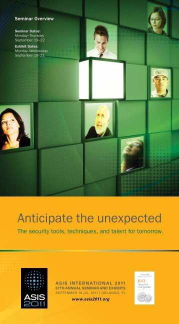 Anticipate the unexpected - ASIS 2012