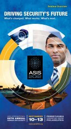 DRIVING SECURITY'S FUTURE - ASIS 2012