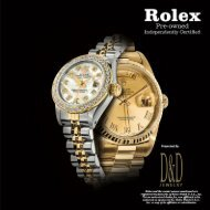 Rolex Pre-Owned Independently Certified Watches
